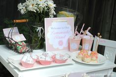 Our lemonade play date tablescape.  So simple to put together!