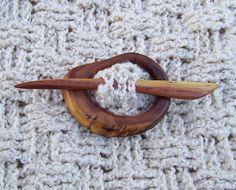 rustic shawl pin