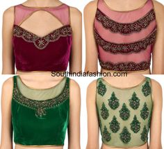 velvet_net_blouse_designs