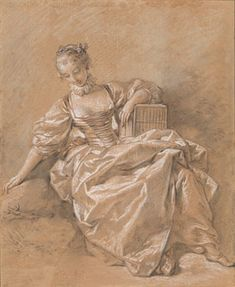 François Boucher (1703–1770), Young Girl with a Bird Cage. Gift of Mrs. Francis Kettaneh. 1980.41, The Morgan Library & Museum.