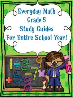 math worksheet : free!! everyday math grade 5 chapter 1 study guide w answer key  : Everyday Math Worksheets