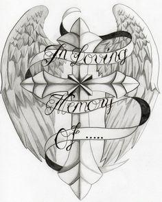 In Loving Memory Of Cross Tattoo Photo