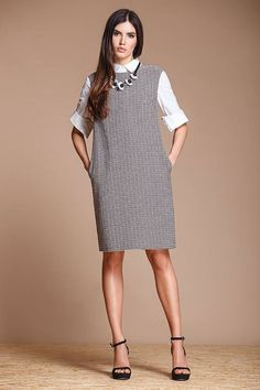 Style Inspo : Pairing Preppy Separates With One-Piece Garments Work Fashion, Modest Fashion, Fashion Dresses, One Piece Outfit, One Piece Dress, Casual Work Outfit Summer, Pinafore Pattern, Kids Outfits Girls, Lookbook