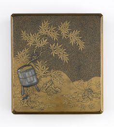 Amazing! Inkstone box (suzuribako) 17th century Edo period  Lacquer on wood with gold and silver H: 1.7 W: 6.0 D: 23.2 cm  Japan