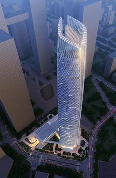 WUHAN-Wuhan-Center Supertall Architectural Projects To Be Built In China - 30 Buildings Future Buildings, Unique Buildings, Amazing Buildings, Futuristic Architecture, Beautiful Architecture, Art And Architecture, Innovative Architecture, High Building, Building Design