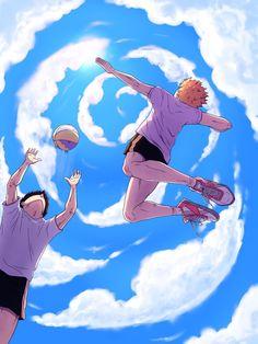 - Shouyou Hinata x Tobio Kageyama - KageHina Manga Haikyuu, Haikyuu Kageyama, Haikyuu Fanart, Haikyuu Ships, Hinata Shouyou, Anime Manga, Anime Guys, Anime Art, Haikyuu Volleyball