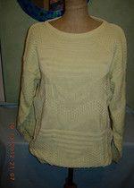 """Oversize'owy sweter w kolorze jasnej pistacji neonowy L z """"ciężkiej"""" wełny"""