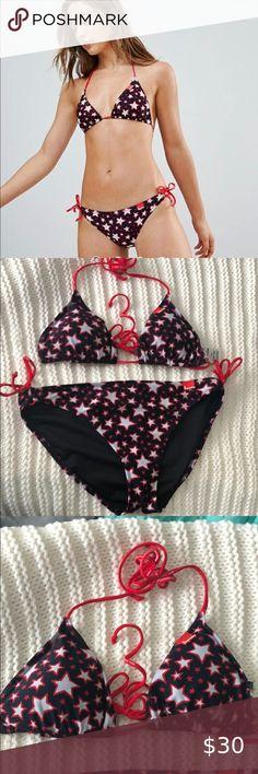 Asos Superdry Star Bikini Excellent condition  Top- US size 8  Bottom - US size 10 ASOS Swim Bikinis