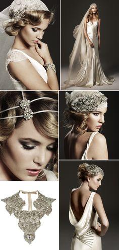vintage inspired hair accessories -bridal