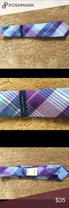 Tommy Hilfiger tie Blue and purple tie in new packaging with tag Tommy Hilfiger Accessories Ties