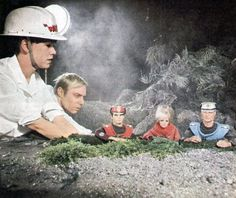 Preparing to film a scene from the Captain Scarlet episode Seek and Destroy.