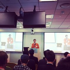 Volker of YSeed speaking at Startup Labs Taiwan Demo Day