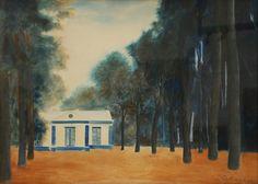 Léon Spilliaert (Belgian, 1881-1946),Pavilion in the park, 1936. Watercolour on paper, 48 x 66 cm.