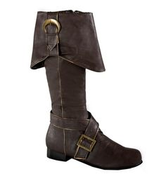 Brown Jedi Pirate Gotham Engineer Costume Boots