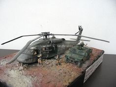 Black Hawk Down diorama by ronaldkuntoro, via Flickr