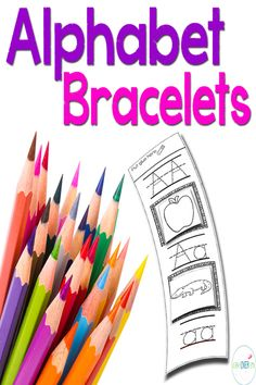 Alphabet Bracelets for letter recognition, phonetic awareness and handwriting practice. Get your set today! $