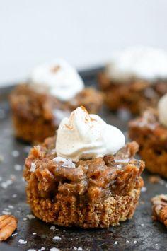 Salted Caramel Pecan Pie Tarts + Vitamix Giveaway! (Gluten Free, Grain Free, Dairy Free, Refined Sugar Free)