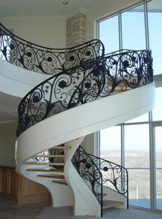Superb stair railing designs in Staircase Modern with next to Cast Iron alongside Wrought Iron Staircase Design and Circular Staircase Winding Staircase, Iron Staircase, Modern Staircase, Spiral Staircases, White Staircase, Curved Staircase, Stair Steps, Stair Railing, Banisters