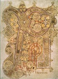 """Chi-Rho Page from the Book of Kells: """"The Word Made Flesh"""""""