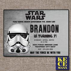 Star Wars Birthday Invitation,Star Wars Invitation,Star Wars Template,Star Wars Party Printables,Star Wars Party Favor,DarthVader Invitation by kecemaxx on Etsy