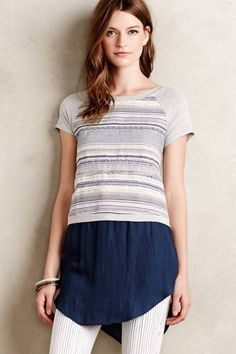 Skirted Baseball Tee by Dolan #anthrofave #anthropologie