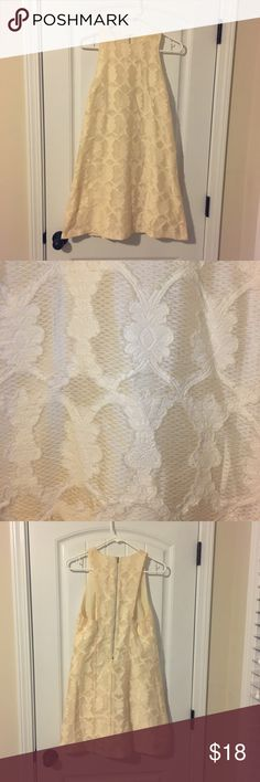 EUC cream lace dress EUC cream lace dress. Zips up the back. 53% cotton 45% polyester 2% rayon. Lining 100% polyester. Smoke free home. Everly Dresses
