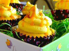 mango cardamom cupcake