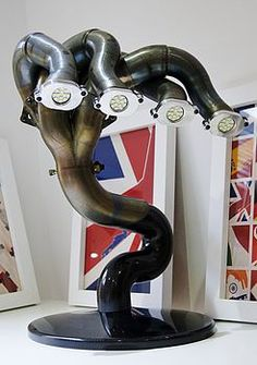 formula one exhaust pipe lamp, by memento exclusives                                                                                                                                                                                 More