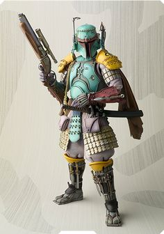 Samurai inspired Star Wars action figurines