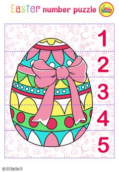 Easter themed Preschool Printables - Free worksheets, number puzzles - tracing letters, numbers and other activities - fun learning by BonTon TV Easter Activities For Kids, Preschool Learning Activities, Preschool Printables, Fun Learning, Kids Fun, Coloring Book Pages, Coloring Pages For Kids, House Drawing For Kids, Free Printable Art