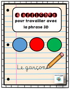 Free Alphabet Printables, Teachers Corner, Teaching French, France, Activities For Kids, Writing, French Grammar, 3d, Inspiration
