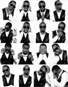 P Diddy in a photo booth, iconic black and white. #photobooth #pdiddy
