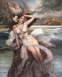 """Siren-In Greek mythology, Sirens were depicted as women  who lured sailors with their enchanting voices to become shipwrecked on the rocky coasts of their islands.  They appeared in popular  literature, such as Homer's, """"The Odyssey""""."""