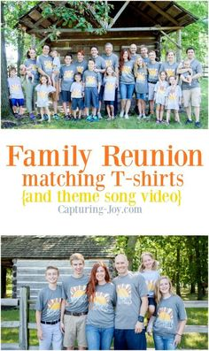 Family Reunion Custom T-Shirt Idea. I show you the whole process of designing a custom T-shirt. It's so easy! Capturing-Joy.com