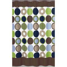 Elegant Shower Curtains | Designer Dot Shower Curtain