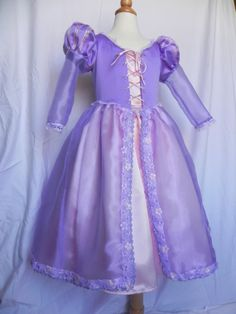 Rapunzel Deluxe Costumes. Size 9, 10,11,12 Custom made to fit.