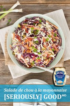 Hypoallergenic Pet Dog Food Items Diet Program Enjoy A Little Extra Oomph In This Coleslaw With Heinz Seriously Good Mayonnaise. Tap Photo For This Easy Veggie Recipes, New Recipes, Dog Food Recipes, Salad Recipes, Vegetarian Recipes, Cooking Recipes, Favorite Recipes, Recipies, Salad Bar