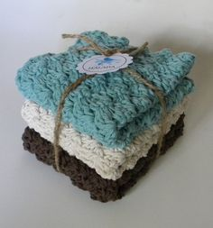 Crocheted Washcloth Set