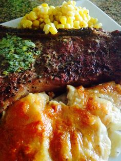 Juicy NY Steaks, Pioneer Woman recipe, Four Cheese Scalloped Potatoes ..my Pinterest recipe dinner was a success!