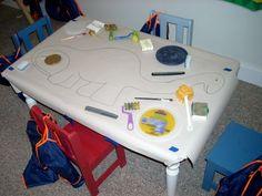Make a Fantastic Dinosaur Mural Dinosaur Classroom, Dinosaur Theme Preschool, Dinosaur Play, Dinosaur Activities, Toddler Classroom, Preschool Themes, Preschool Art, Ks1 Classroom, Preschool Plans