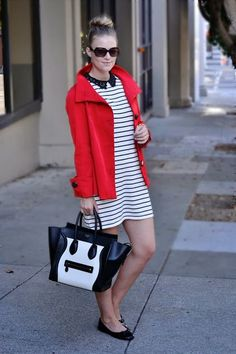 Trend Alert: A Touch of Red on Stripes