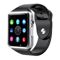 A1 Bluetooth Waterproof And Gsm Sim Phone Smart Watch For Android Ios Smart Phones (Black)