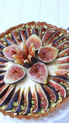 Fig Recipes, Tart Recipes, Brownie Recipes, Sweet Recipes, Amaretti Cookie Recipe, Dessert Dishes, Sweet Tarts, Cake Decorating Tips, How Sweet Eats