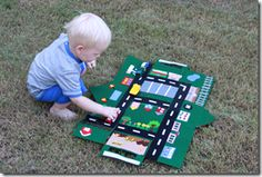 great gift for a boy! play mat that folds into a house