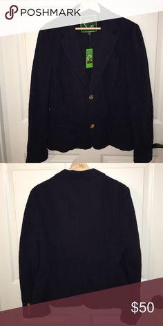 C Wonder navy eyelet blazer size 14 new with tags Size 14 new with tags c wonder Jackets & Coats Blazers