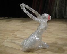 Dancer sculpture for Scotch(R) Off The Roll Tape Sculpture Contest - 2012 Sharpie Crafts, Tape Crafts, Middle School Art, Art School, Scotch, Sculpture Art, Garden Sculpture, Paperclip Crafts, Tape Art