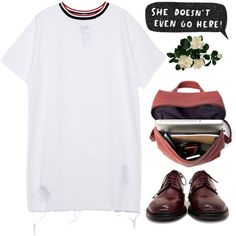 She doesn't have even go here by scstyle19 on Polyvore featuring polyvore, fashion, style, SCHO and Laura Cole