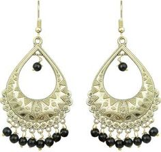 black brass chandballi earring - Online Shopping for Earrings ...