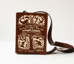 Grimm's Fairytale Classics Leather Book Bag Brothers Grimm Book Purse by krukrustudio on Etsy https://www.etsy.com/listing/265482838/grimms-fairytale-classics-leather-book