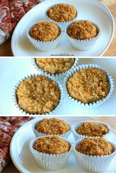 Butternut Oat muffins- An E muffin for your Breakfast! Full of fall flavor! Lowfat and sugar free!
